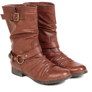 Ten WomenS Brown Mid Length Boots ]