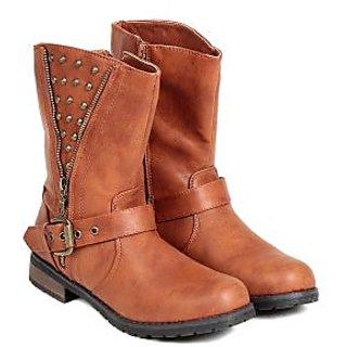 Ten WomenS Tan Mid Length Boots ]
