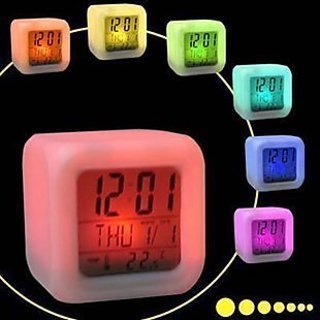 7 Colour Changing Digital Alarm Clock