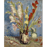Vincent Van Gogh, Vase With Gladioli And China A, Giclee Print On Archival Paper