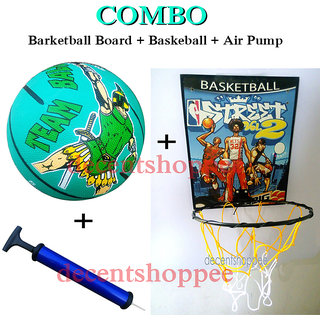 Super Combo Pack Basketball Board + Basketball + Air Pump
