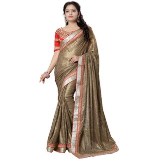 Avf Jacquard Saree - Brown