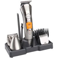 Kemei KM-580A Rechargeable Grooming Kit Multifunctional Hair Beard Nose Clipper 7 in 1 Trimmer For Unisex