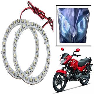 Capeshoppers Angel Eyes Led Ring Light For Hero Motocorp Glamour- Blue Set Of 2
