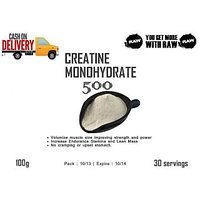 Creatine Monohydrate Powder 100% : 100 Gms - Unflavored Pure Raw