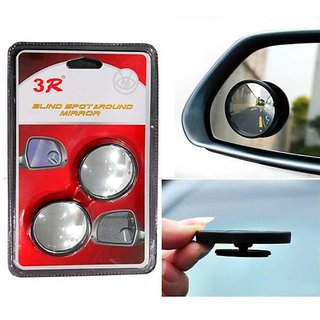 Takecare 3R Round Flexible Blind Spot Rear Side Mirror Set Of 2 For Cars For Maruti Alto K-10