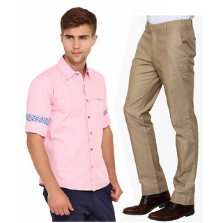 Men Pink Shirt and Pant Combo: Buy Men Pink Shirt and Pant Combo ...