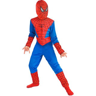 Multicolour Polyester Spideman Costume for Kids