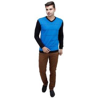 Inkdice cool blue woolen blend sweater and Pullover for men