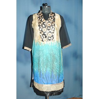 Georgette Printed Kurti- Mohmmad Fashion