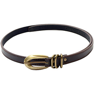 SkyWays Classic subtle look Belt With A Sturdy Brass Buckle (Blw-1BRN)