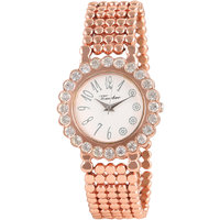 Timebre Appealing Women Rose Gold Diamond Party Watch