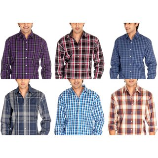 Mens Casual Cotton Shirts Buy 3 Get 3 Free