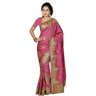AVF Bhagalpuri Saree - Pink AVF-M1056
