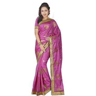 AVF Bhagalpuri Saree - Pink AVF-M1051