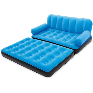 New 5 In 1 Blue Sofa Inflatable Bestway Air Bed - BD5BL