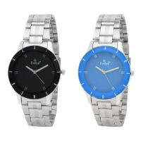 Evelyn Round Dial Silver Metal Strap Women Watch