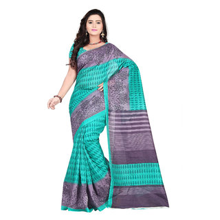 Aaina Green Bhagalpuri silk Printed Saree