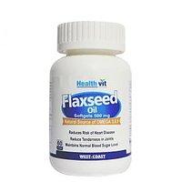 Healthvit Cold-Pressed Flaxseed Oil 500Mg 60 Softgel