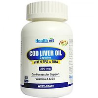 Healthvit Cod Liver Oil 300Mg 60 Softgel