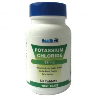 Healthvit Potassium Chloride 99Mg 60 Tablets