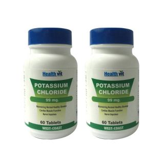 Healthvit Potassium Chloride 99Mg 60 Tablets (Pack Of 2)