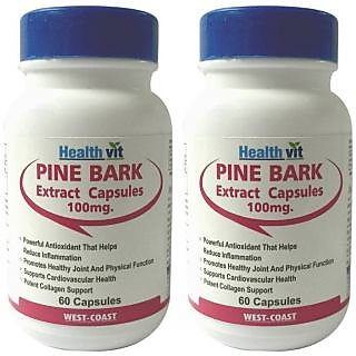 Healthvit Pine Bark 100Mg 60 Capsules (Pack Of 2)