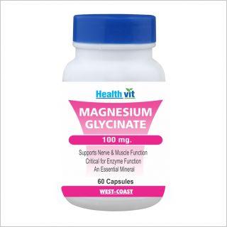Healthvit Magnesium Gglycinate 100Mg 60 Capsules