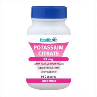 Healthvit Potassium Citrate 99Mg 60 Capsules