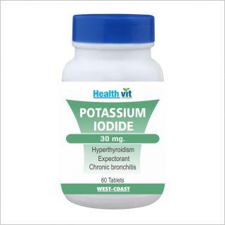 Healthvit Potassium Iodide 30Mg 60 Tablets