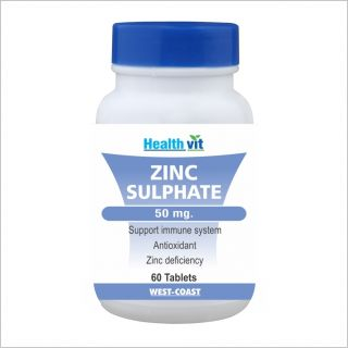 Healthvit Zinc Sulphate 50Mg 60 Tablets