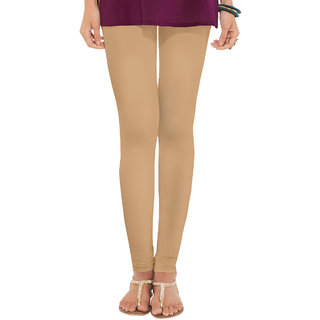 Womens Cottage Beige Cotton Lycra Leggings