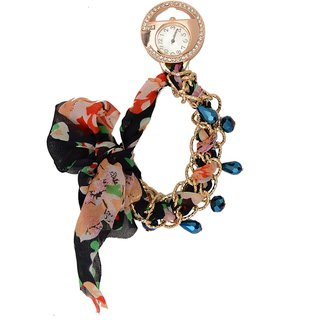 shopaholic fashion long ribbon printed watch