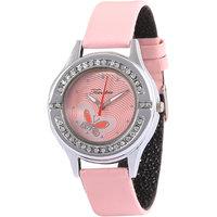 Timebre Snappy Women Pink Daimond Analog Watch