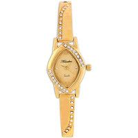 Timebre Oval Dial Golden Metal Strap Women Watch
