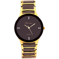 Timebre Round Dial Multicolor Metal Strap Quartz Watch For Men