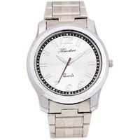 Timebre Round Dial Silver Metal Strap Quartz Watch For Men