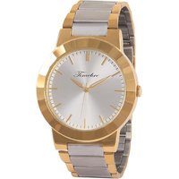 Timebre Round Dial Gold Metal Strap Quartz Watch For Men