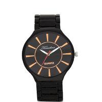 Timebre Appreciable Men Black Steel Casual Watches
