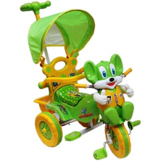 Amardeep Baby Tricycle Green 866433 cms 1-3 yrs W/Shade and Parental Control