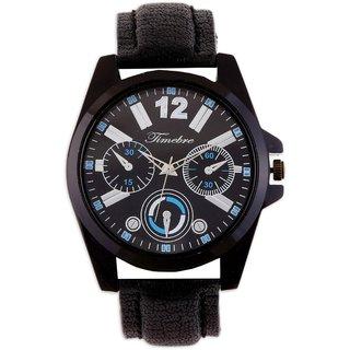 Timebre Voguish Men Black Casual Watches
