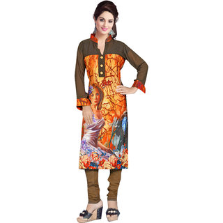 Dewberry Elegant Lady Digital Printed Kurti