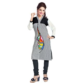 Dewberry Side Face Print Kurti