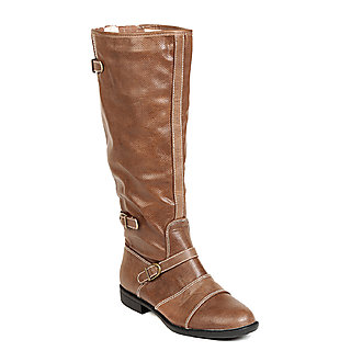 TEN Modernistic Womens Tan Knee Length Boots ]