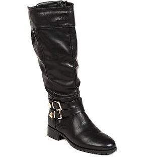TEN Nifty Womens Black Knee Length Boots