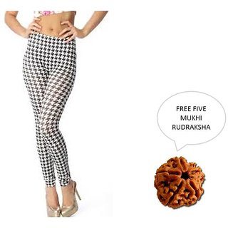 Mahna Imported Leggings For Women With Free Five Mukhi Rudraksha