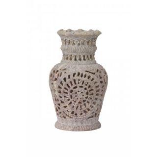Hand Feel Carved Flower Vase 6 Inch (Handmade)
