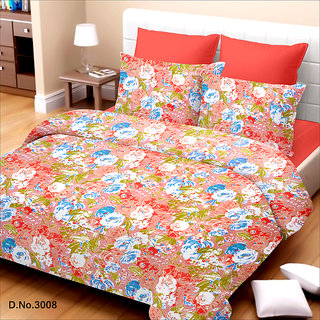 King Size Orange Cotton Bed Sheet (TSJ-16)