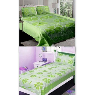 Attractivehomes beautiful cotton floral bedsheets (combo offer)