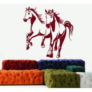 Decor Kafe Horses Wall Decal 30x30 Inch available at ShopClues for Rs.499